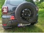 Mudster bagażnik/uchwyt na kanister do montażu na koło zapasowe wraz z kanistrem (2)